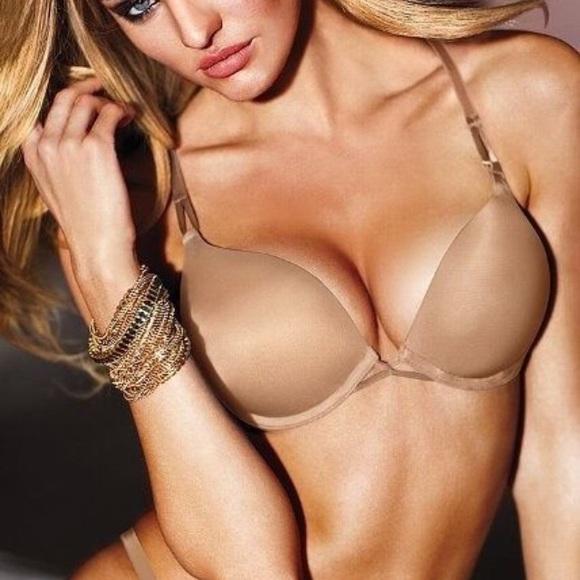 341bb335f6f00 Victorias secret bombshell bra in nude. M 5aa2d63e077b9752189b0c81